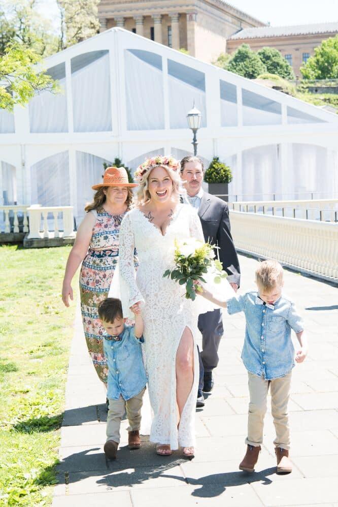 waterworks gazebo wedding, bride