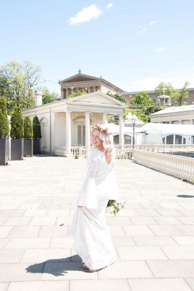 bride, waterworks gazebo wedding