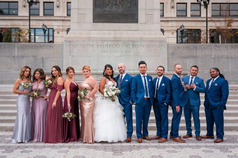 gilded, multicultural wedding at hotel du pont