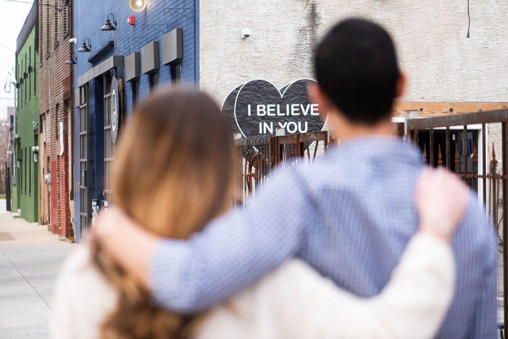 engaged couple anticipate future together