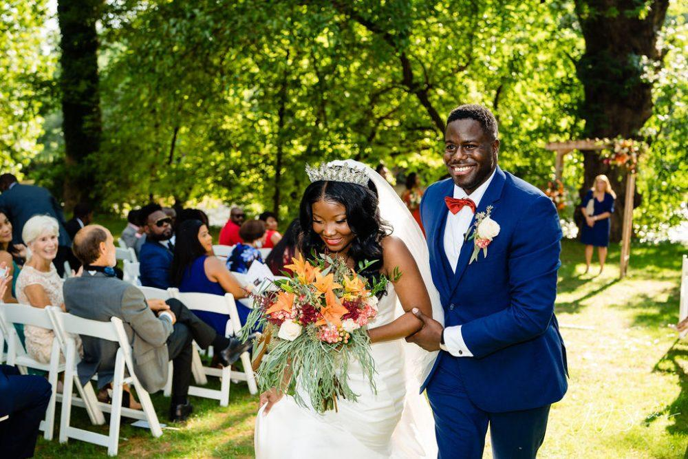 African american couple just married