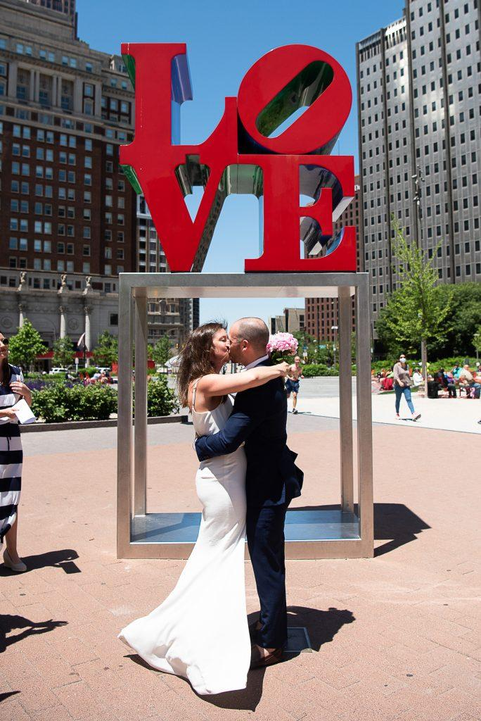 love park wedding ceremony