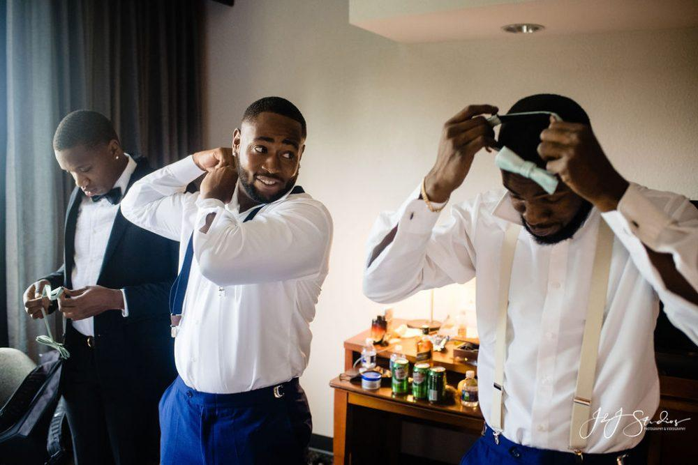 Black men getting ready
