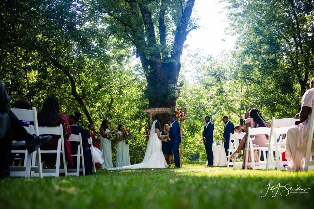 African American outdoor wedding