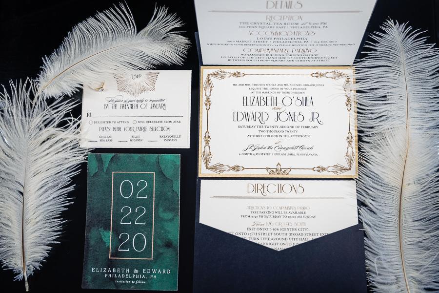 bridal invitation suite
