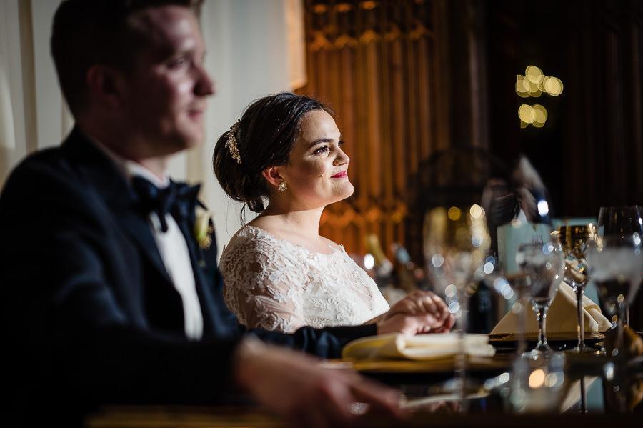 bride and groom enjoy reception
