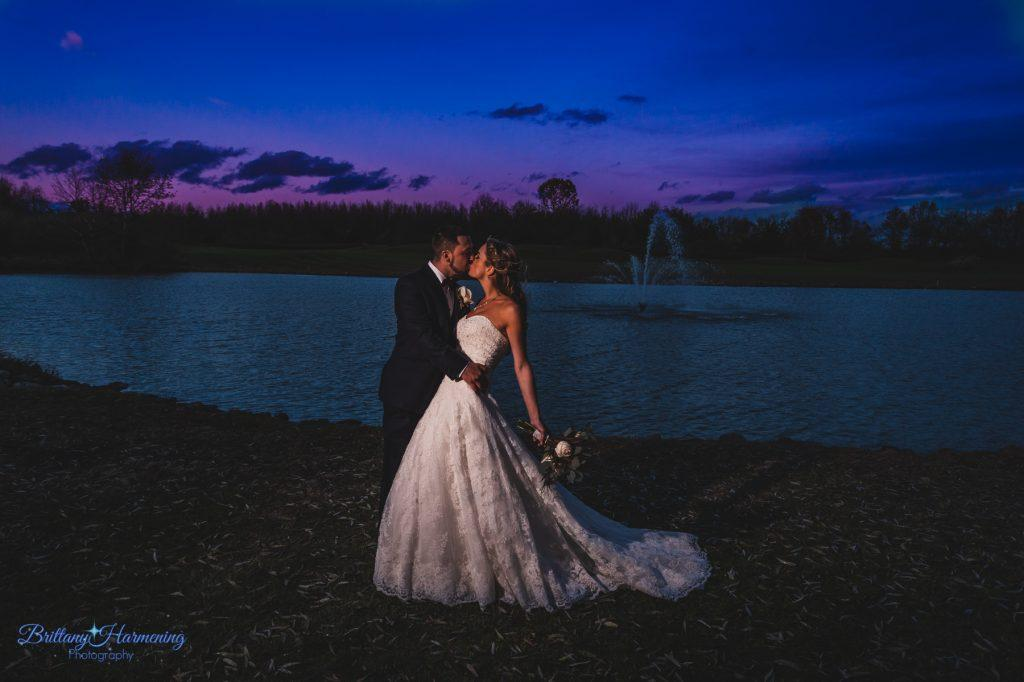 Philadelphia wedding photographers, brittany harmening photography, bride and groom after sunset