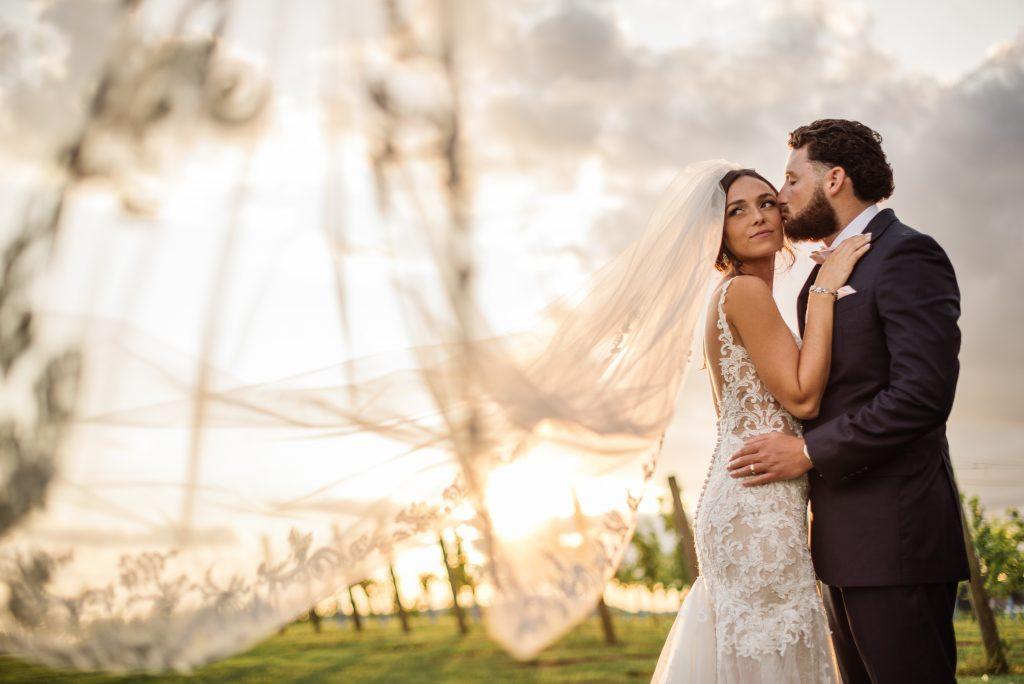 Philadelphia wedding photographers, Megan Brock Photography, bride and groom in wine vineyard