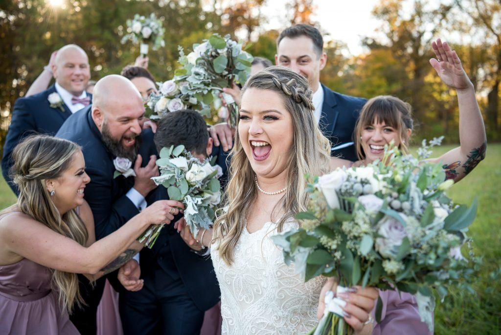 Philadelphia wedding photographers, kunda photography, bridal party being rowdy