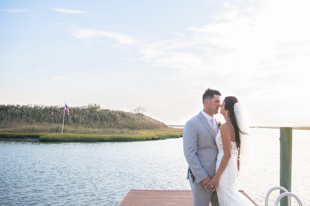Philadelphia wedding photographers, tami ryan photography, bride and groom on dock
