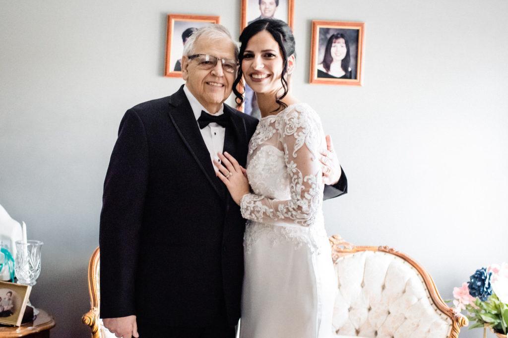 bride and dad, crystal tea room wedding nicole cordisco photography